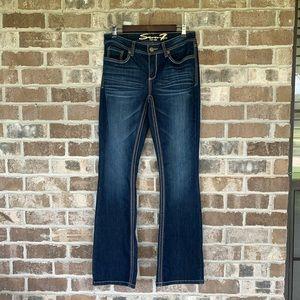 Seven7 Medium/Dark Wash Bootcut Jeans Size 10
